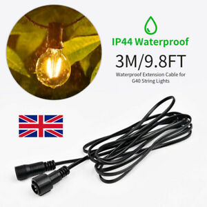 3 Meters Waterproof Cable Extension for G40 Outdoor Home Garden String Light