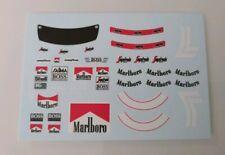 "Mclaren MP4/2B Niki Lauda "" Figure Decals "" 1985 1/18"