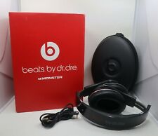 BEATS BY DR DRE STUDIO HEADPHONES by Monster ORIGINAL BOX w/ CONTENTS Black Red