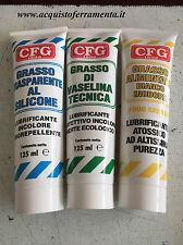 CFG tubetto 1 Grasso silicone +1 Grasso Alimentare +1 Grasso di Vaselina 125 ml
