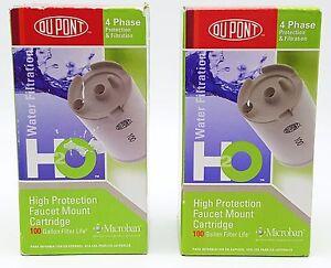 2 WFFMC100X DuPont High Protection 100 Gal Faucet Mount Water Filter Cartridge