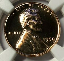 1958 NGC PF69 RD PROOF Lincoln Wheat Cent 1c ~ RARE EARLY US PROOF PENNY