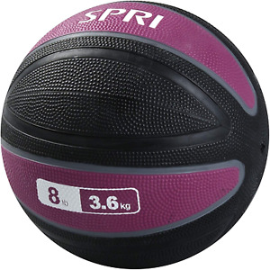 Spri Xerball Medicine Ball Thick Walled Heavy Duty Textured Surface (2Lb, 4, 6,