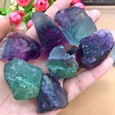 1Pcs Natural Fluorite Quartz Crystal Stones Rough Polished Gravel Specimen