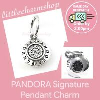 New Authentic Genuine PANDORA Silver Signature Pendant Charm - 390359CZ RETIRED