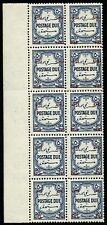 Jordan 1952 Postage Due 50 Fils Perforation 14 Block/10 SG 346 MNH OG £130