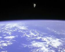 Astronaut Bruce McCandless flies the MMU at max distance Challenger Photo Print