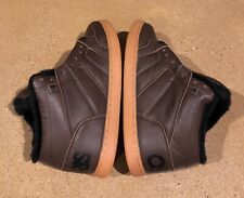 Osiris Convoy Mid Shearling Size 14 US Brown Black BMX DC MOTO Skate Shoes