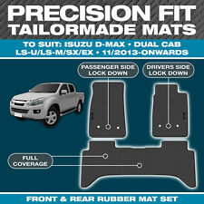 Isuzu D-Max Dual Cab NOV/2013-On Custom Moulded Rubber Black Car Floor Mats