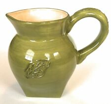 New listing Tastefully Simple Host Collection green leaf stonewear pitcher