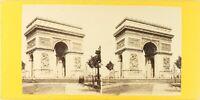 Francia Parigi ARCO Triomphe, Foto Stereo Vintage Albumina PL62L4