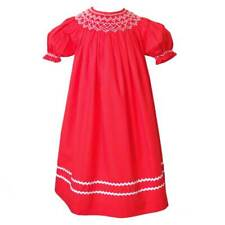 Girl's Red Valentine Day Smocked Dress by Mom & Me – 100% Cotton – Size 5 – Nwt