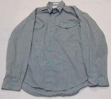 VTG Levi's Silver Label Button Front Shirt Striped Cotton Poly Blend Sz Large L