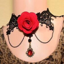 Damen Statement Choker Retro Halsband Halskette Schmuck Kropfband Collier Gothic