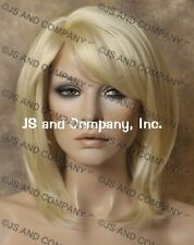 Wonderful straight layered Pale Blonde wig JSDD 613