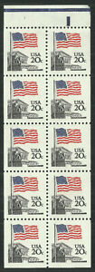 Scott 1896a, the Flag Over Supreme Court Booklet Pane from 1981 - MNH w/tab