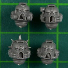 Blood Angels Tactical Squad Space Marines 4 Heads B Warhammer 40k Bitz 2623