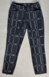 Womens XS Adidas Black Grey Golf Cropped Pants