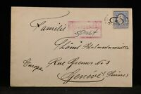 Illinois: Chicago 1912 15c Washington Single Use Registered Cover to Switz.