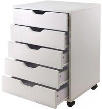 Hobby Craft Storage Organizer Mobile 5-Drawer Cart Art Drawing Sewing Cabinet