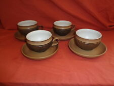Denby Langley Stoneware Cotswold Coffee / Tea Cup Saucer X 4