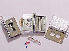 Metal Locket Bottle Book vial tube crystal glass key heart pendant charm bead