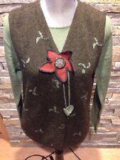 NWOT Peruvian 100% Baby Alpaca - Intarsia - Sweater Vest ONLY - XL - Hand Knit