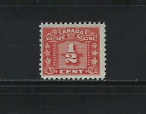 CANADA REVENUE - #FX60 - 1/2c EXCISE TAX MINT STAMP MNH