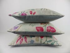 Art Of The Loom Wildflowers Cerise Pink Fabric 3 Cushion Covers Pillow Scatter