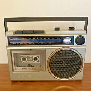 Vintage General Electric AM/FM Cassette Recorder 3-5240-B WORKS READ DETAILS EUC