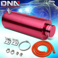 "8.5""X3""UNIVERSAL PINK ALUMINUM COOLANT RECOVERY OVERFLOW CATCH TANK 3/8""BARB"