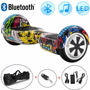 Hoverboard 6.5 Inch Hip-Hop Yellow Electric Scooters Bluetooth LED E-skateboard