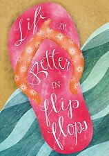 "Life is Better in Flip Flops Summer Garden Flag Beach Nautical 12.5"" x 18"""