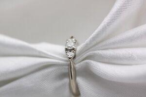 18ct White Gold Diamond Trilogy 0.25ct Size J 3g Ring - 0133004