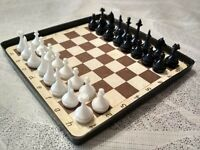 Vintage Pocket travel magnetic chess Soviet Russian USSR KIEV