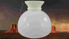 Lampes Abat-Jour Verre Pétrole Blanc Rochester D.23cm Sans Cylindre Cadeau