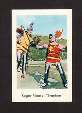 Roger Moore Ivanhoe Vintage 1960s Film / TV Star Card from Sweden B