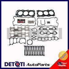 Head Gasket Set Manifiold Bolts Kit For 02-09 Nissan Infiniti  3.5L V6 VQ35DE