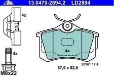 Plaquette de frein Arriere ATE CERAMIC SEAT IBIZA V 1.6 TDI 105ch