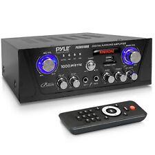 Pyle PKRMX4000 Bluetooth Digital Home Audio Desktop Power Amplifier - 600W