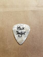 Rolling Stones Mick Taylor Guitar Pick Pearl White, Tribute Pick?