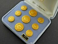 Vintage Lot 9 Waterbury Buttons University of Oklahoma 24K Gold Plated WC 1812
