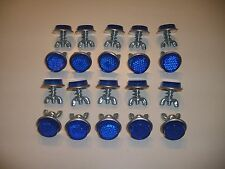 "20 Blue Goliath Tool Mini Bicycle Reflectors 7/8"" Diameter with Wing nuts"