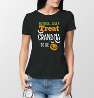 60ba7c094d713 Halloween Pregnancy reveal Grandma to be black T-shirts set. baby  announcement.