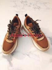 ZARA Women's Contrasting Platform Sneakers(Brown, US  8/EUR  39)