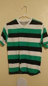 Boys shirts size L 10-12 green or orange color
