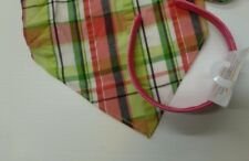 2 Piece Gymboree Girls Plaid Pink and Green Scarf and Pink Headband New
