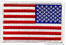American Flag Motorcycle Vest Biker Patch White Left embroidered iron-on Us Usa
