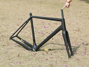 Carbon Matt Gravel Bike 61cm Frame Bsa 142mm *12mm + Bicycle Fork + 2 * Axles