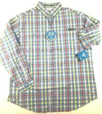 Columbia Pfg Mens Xl Super Tamiami Blue Red Plaid L/S Vented Fishing Shirt Nwt